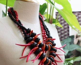 Coconut Shell Beads Necklace - CL1409-18