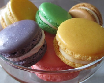 Naturally Gluten Free!! 20 Luscious French Macarons: Handmade and You Choose Color and Flavor