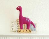 Pink & Pastel Blue Diplodocus Dinosaur Plush Toy