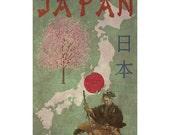 JAPAN 1FS- Handmade Leather Journal / Sketchbook - Travel Art