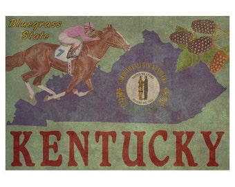 KENTUCKY 1FS- Handmade Leather Journal / Sketchbook - Travel Art