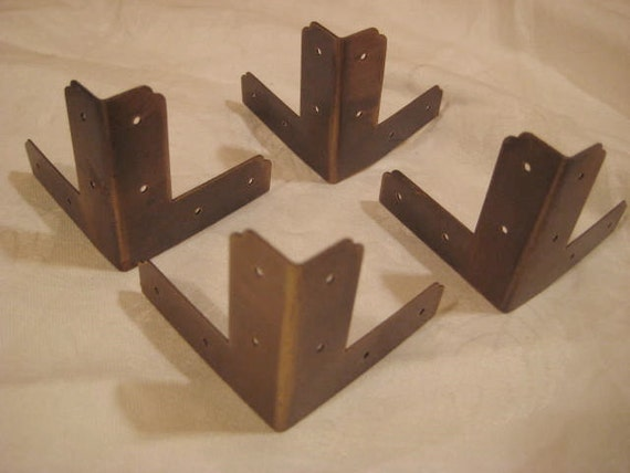 4 Brass Chest Or Cabinet Corner Trims Corner Guard