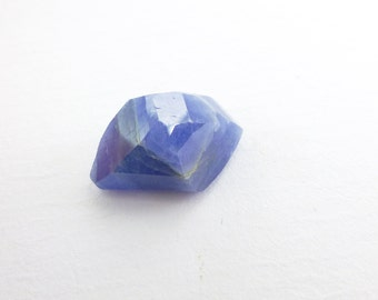 SAPPHIRE. 100% Natural. Blue Unheated / Untreated. Tavernier Rose Cut. Freeform. Geometric. 1 pc. 8.70 cts. 10x14x8 mm (S1554)