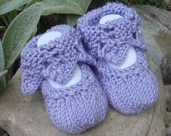 Hand knit baby booties - 'Bootie-licious'