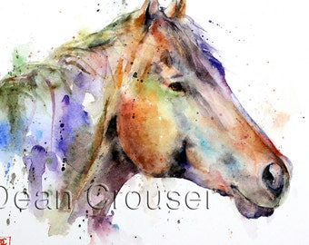 HORSE Colorful Ceramic Tile by Dean Crouser