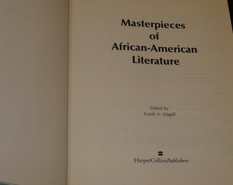 Masterpieces of African American Literature, 1st Ed.  Anthology Literature Fiction, Non Fiction, Collection,  Drama, Poetry, Reviews,