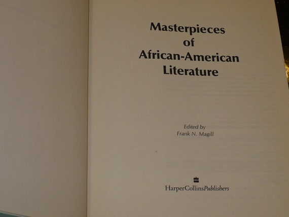 a literary analysis of anthology of american negro poetry