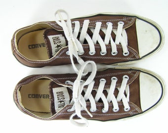 converse all star shoes womens 10 m brown chuck taylor sneakers canvas