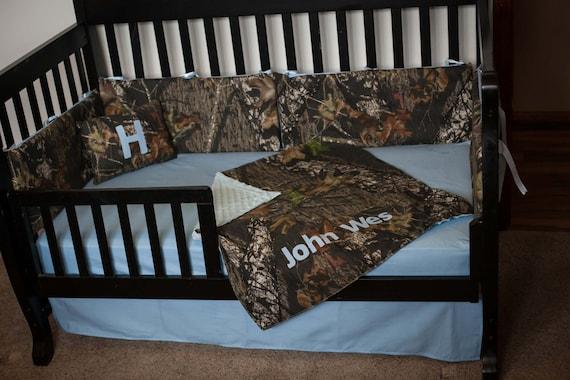 Items Similar To Custom 4 Piece Mossy Oak Bedding Hunter Camo Camouflage Crib Bedding Baby Blue