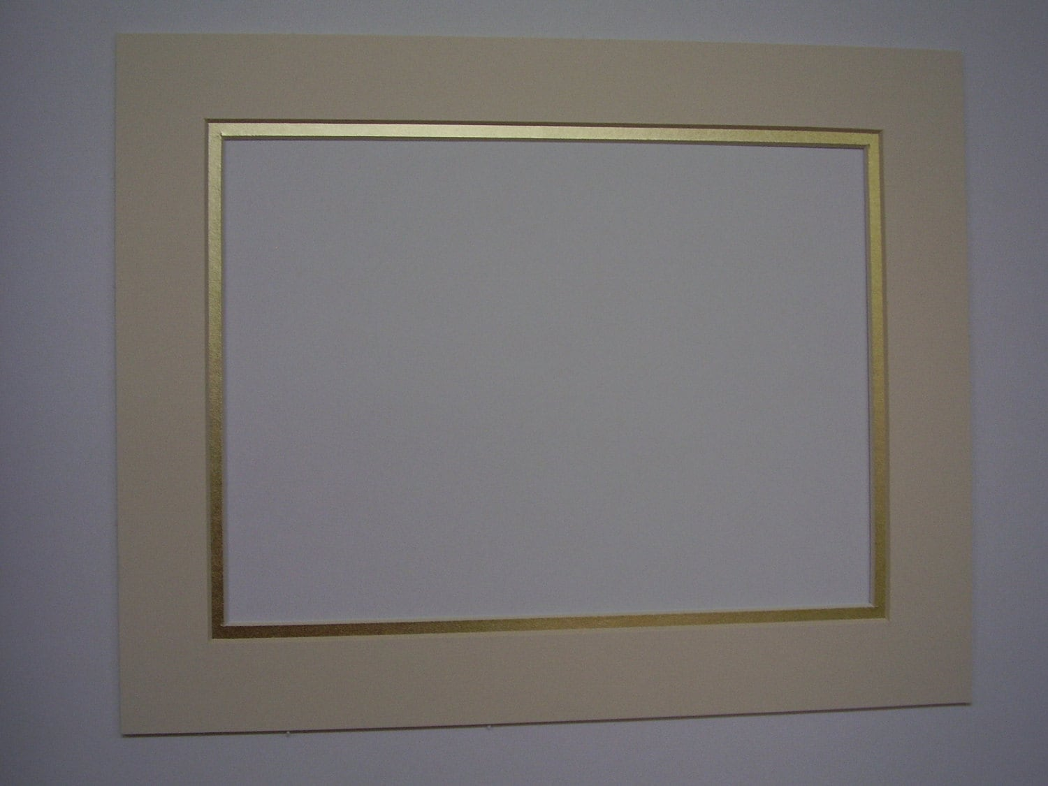 Picture Mat Diploma Size Mat Ivory With Shiny Gold 11x14