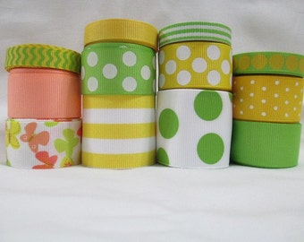 24 Yds SPRING BUTTERFLIES wholesale grosgrain ribbon collection Low Shipping Cost