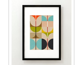 SWAN no.1 - Giclee Print - Mid Century Contemporary Modern Abstract Modernist Art