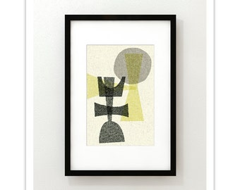 OFFSET no.1 - Giclee Print - Mid Century Modern Contemporary Modern Abstract Modernist Art