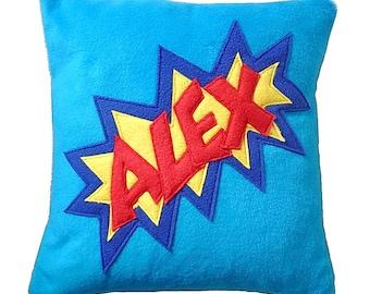 Personalized comic fleece cushion custom pillow (with pad )
