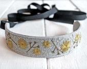 Embroidered Headband, Forest Wedding Headband, Boho Headband, Festival Headband,