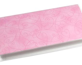 Checkbook Cover Swirl Pink