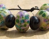 Gothic Garden - lampwork bead set