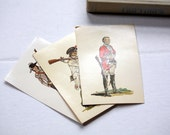 Vintage Postcards - Set of Three (3) 1960s / War Soldiers in Uniform - FREE Shipping