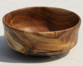 Wood Art Bowl, Turned Wood Bowl, Silk Tree Wood, Natural Features