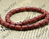 8x12mm Red Sponge coral drum nugget beads,Coral Beads Coral nugget  Beads Full One Strand 16inch