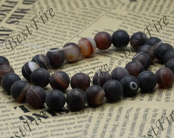 12mm Frosted surface Agate Beads ,agate stone beads loose strands