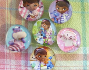 DOC MCSTUFFINS and Friends Super Strong Glass Bubble Magnets Great for Preschoolers
