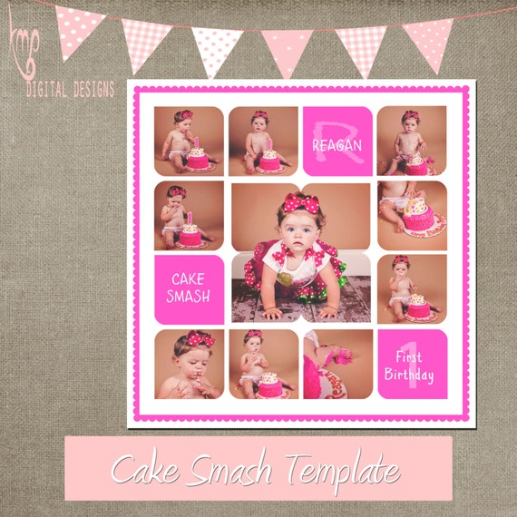 cake smash template cake smash storyboard 20x20 collage cs. Black Bedroom Furniture Sets. Home Design Ideas