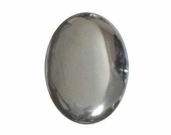 25x18 loose gemstone  Hematite cab Flat Back Cabochon hemitite 25x18mm gem stone 18x25 polished stone 650x