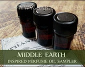 MIDDLE EARTH Perfume Oil Set / 2ml Perfume / inspired by Lord of the Rings Perfume / Vegan Perfume oils / Medieval Perfume