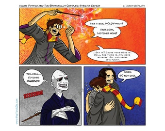 Harry Potter / Voldemort Battle of Wits! (Framed)