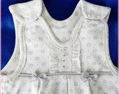 Baby Bubble Romper  - baby girl Romper - sleeveless bodysuit for baby girls-Cream bubble for 3-6 months baby girl-Cotton bubble Romper