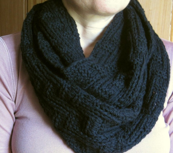 Knitting Pattern Cashmere Cowl : cashmere knitted infinity scarf hand knit cowl 100%