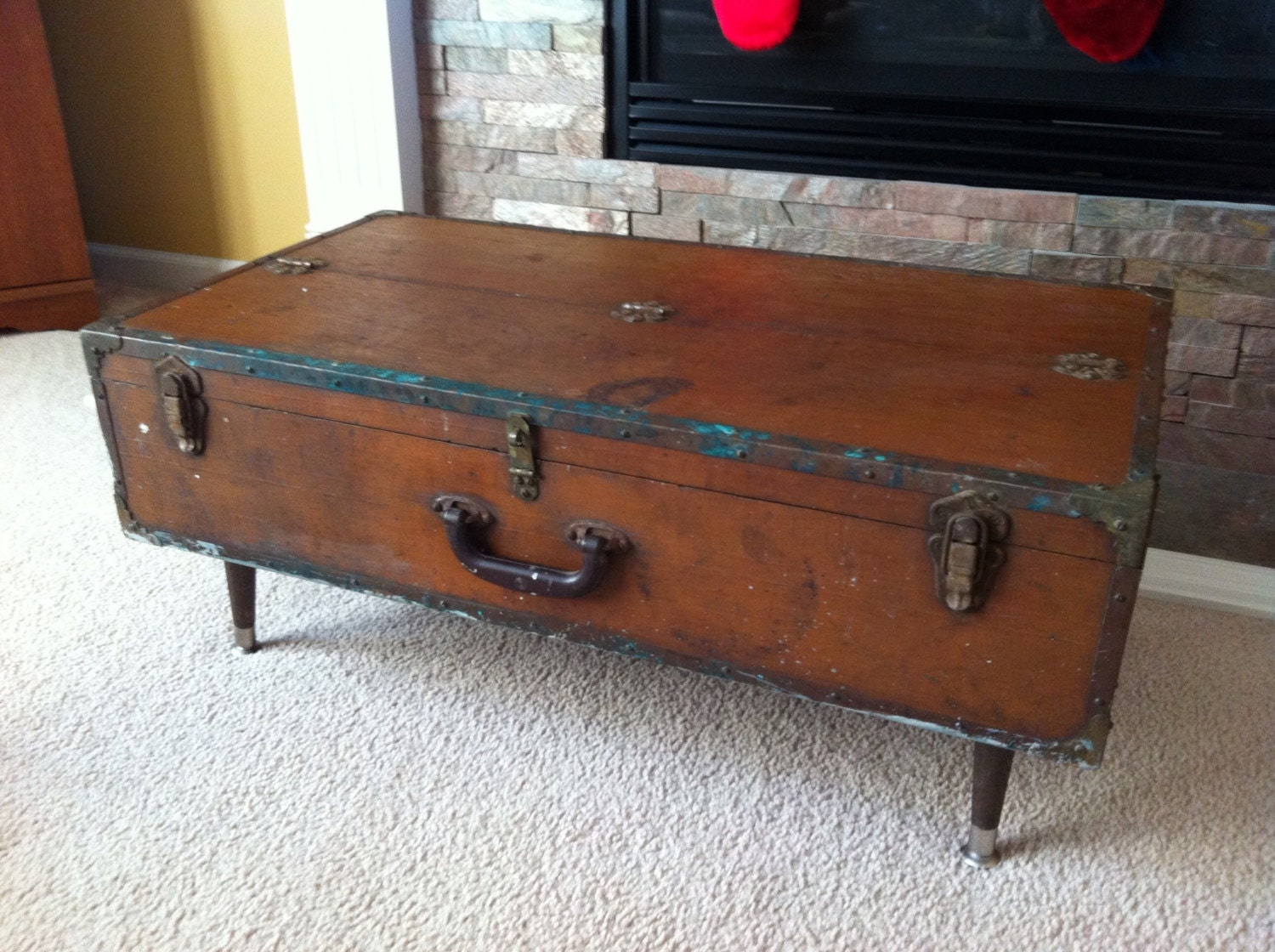 Vintage Tool Chest Coffee Table Repurposed