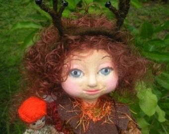 Forest Deer Girl. Woodland.Handmade, OOAK.