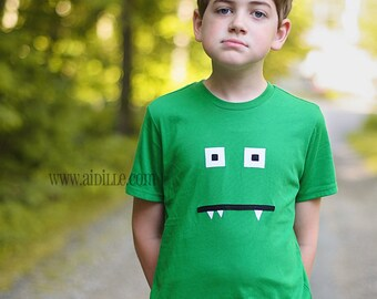 Boys Troll Shirt Applique Tshirt Monster Ogre Tee Sizes 2 4 6 8 10 12 Made to Order