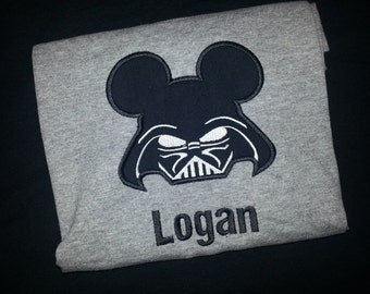 Personalized Darth Vader Mickey Mouse Shirt Disney Family Star Wars Mickey Shirt