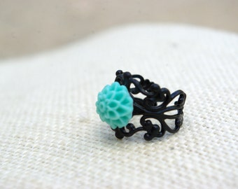 Mini Me Teal Bouquet Ring