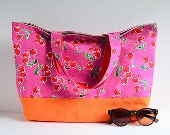 Sample Sale - Market tote bag - sweet cherry