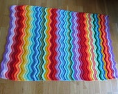 Rainbow Ripple Cot Blanket