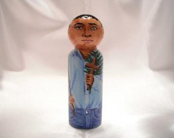 Saint José Luis Sánchez del Río - Catholic Saint Wooden Peg Doll Toy -  made to order