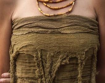 Pixie Frayed Top/Belt/Skirt ~