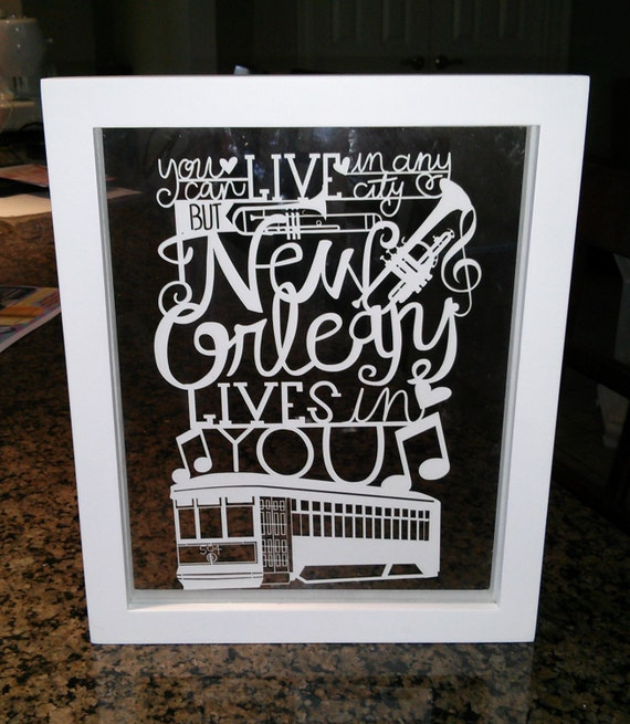 Items Similar To New Orleans Cut Paper Wall Art On Etsy