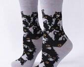 Crazy Kitty Crew Socks