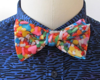 Sprinkles Bow Tie. Clip-on or Adjustable Strap