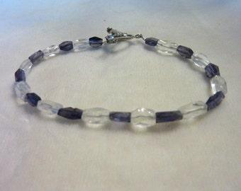 Iolite Quartz Gemstone Bracelet - 7 1/2 Inches - Crystal Waters