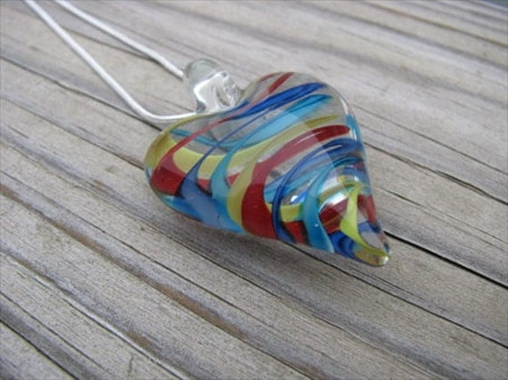 SALE- Rainbow Heart Necklace