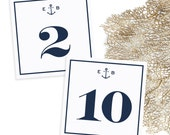 Custom Anchor Table Numbers - Navy Blue