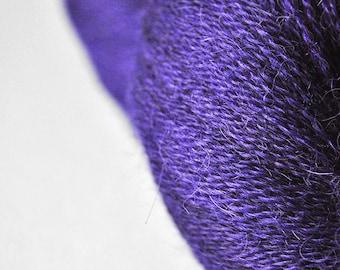 Toxic blue iris OOAK - BabyAlpaca/Silk Lace Yarn