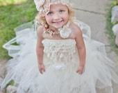 Ivory Flower Girl Tutu by Atutudes Ivory Flowergirl Tutu Ivory Flowergirl Skirt Weddings Ivory Flower Girl Tutu