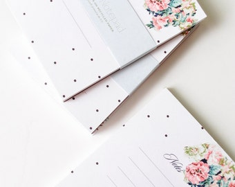 Floral Dot Notepad